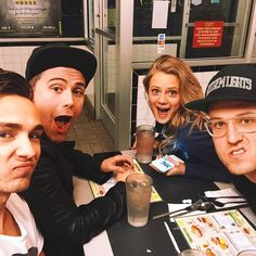 """""""Waffle House with these jerks... love you @calebgrimm @chadmgraham @falleywalley"""" -Joey"""
