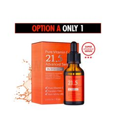 The award-winning Pure Vitamin C21.5 Advanced Serum provides intensive nourishment to the skin with excellent hydration.