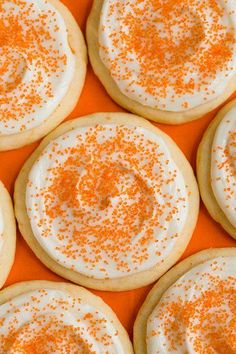 Orange Creamsicle Sugar Cookies