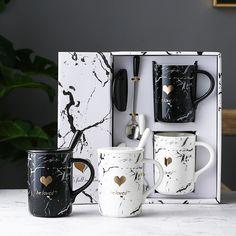 Couple Mug Set # DIY Gifts for couples Marble Design Couple Mug Set Glass Coffee Mugs, Unique Coffee Mugs, Funny Coffee Mugs, Tea Mugs, Couples Coffee Mugs, Couple Mugs, Couple Gifts, Stoneware Mugs, Ceramic Mugs