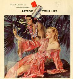 Tattoo your lips ad, 1933 // John LaGatta