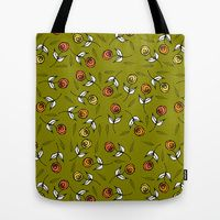 Tote Bag featuring Tiny Flowers One by Robin Gayl