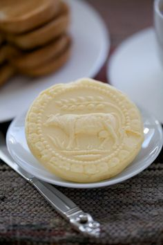 Homemade Cultured Butter Pressed with a Hand-carved Butter Mold-A Little Zaftig
