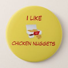 Shop chicken nuggets button created by PearlPoetry.