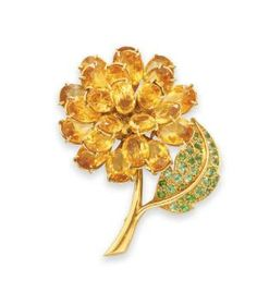 Citrine, Garnet and Gold Brooch, Rene Boivin