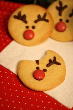 Galletas navideñas de rudolph / Rudolph Christmas cookies Rudolph Christmas, Christmas Sweets, Christmas Cooking, Christmas Decorations, Xmas, Summer Cookies, Holiday Festival, Cookie Decorating, Crafts