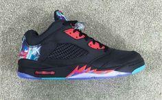 800c6ac317e6 Air Jordan 5 Low Chinese New Year Black Bright Crimson-Beta Blue-Black