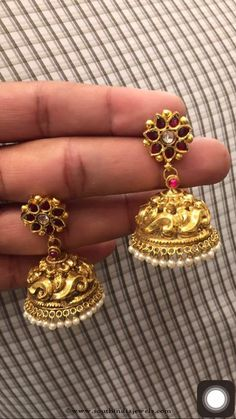30-grams-gold-ruby-jhumki-premraj.jpg (540×960)