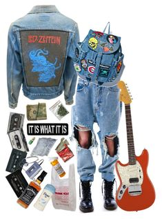"""Grab you Jean Jacket // Contest Entry"" by comaxblack ❤ liked on Polyvore featuring UNIF, CASSETTE, Betsey Johnson and CO"