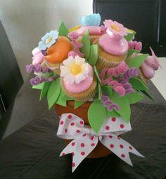 Maceta de Cupcakes Mothers Day