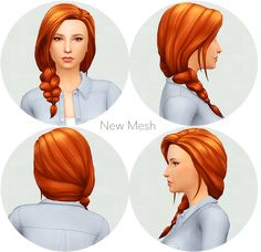 Hey guys i am back! this is a hair used by lilsimsie by her 100 baby challange heir hope you enjoy! Sims 4 Cas, My Sims, Sims 4 Get Together, Cassie Hair, Sims 4 Expansions, Sims 4 Mm Cc, Plaits Hairstyles, Sims Mods, The Sims4