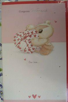 VALENTINES DAY CARD GORGEOUS GIRLFRIEND bears fizzy moon design  #fizzymoon #ValentinesDay Valentines Day For Him, Valentines Day Birthday, Valentine Gifts, Fizzy Moon, Red Love Heart, Moon Design, Bunting Banner, Small Cards, Romantic Gifts