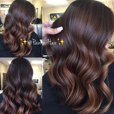 Long Shaggy Bob - Brown Ombre Hair Solutions for Any Taste - The Trending Hairstyle Brown Hair With Blonde Highlights, Brown Hair Balayage, Brown Ombre Hair, Brown Hair Colors, Hair Highlights, Chesnut Brown Hair, Bayalage, Chocolate Brown Hair, Hair Painting