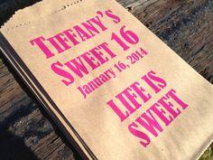 Sweet+16+Favor+Bags+or+Gift+Bags+Bat+Mitzvah+by+pishposhparty,+$12.50