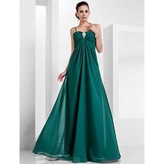 una línea de cariño piso de longitud vestido de noche de gasa (466612) – USD $ 89.69