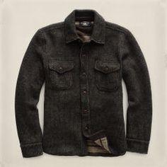 Cotton-Wool Workshirt Sweater - RRL Cardigan & Full-Zip - RalphLauren.com