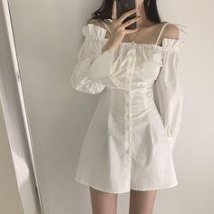 Korean Fashion Dress, Korean Dress, Ulzzang Fashion, Korean Outfits, Kpop Fashion, Asian Fashion, Korean Clothes, Fashion Edgy, Kawaii Fashion