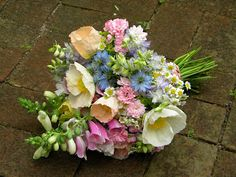 Wedding Flowers from Springwell: Poppies- Springtime Wedding Flowers in Pastel Shades