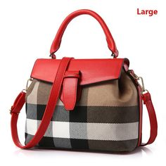 New Famous Designer Handbags Contracted Stripe Canvas Women Small Shoulder Bag With Lock Catch Female Messenger Bag