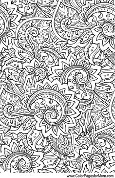 Paisley Coloring Pages Coloring Pages Kids 2019