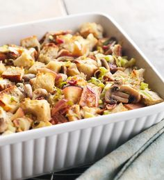 Apple, Bacon, and Leek Stuffing from the Better Homes and Gardens Must-Have Recipes App