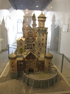 Model of Neuschwanstein Castle in the Neuschwanstein Castle, Germany