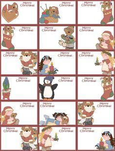 Dulces Etiquetas o Toppers con Osos para Imprimir Gratis para Navidad. | Ideas y material gratis para fiestas y celebraciones Oh My Fiesta!