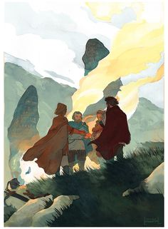 Figured I should finally post this! My fall thesis work, finished up in early December: I did book illustrations for Gísla Saga! It's an Icelandic saga, written probably in the 13th century but...