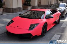 who doesnt want a pink car Matte Pink, Bugatti, Lamborghini, Large Photos, Fast Cars, Sport Cars, Exotic Cars, Hot Wheels, Cool Cars