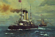 Un pre-dreadnought ruso, quizá un clase Petropavlovsk. Más en www.elgrancapitan.org/foro