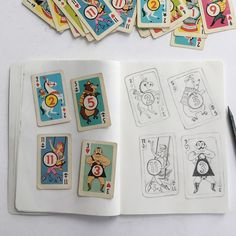 This is my favourite warm up sketch From May. The design of these playing cards are brilliant. The characters and colours are just so lovely. I'm not sure who illustrated them though. Does anyone know? I'd love to find out. #playingcards #sketchbook #wakeupanddraw #walktosee #draweveryday Does Anyone Know, How To Find Out, Playing Cards, Sketch, Characters, Colours, Draw, My Favorite Things, Illustration
