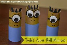 Kids would love - Toilet Paper Roll Minions