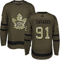 1e1cae608 Adidas Maple Leafs  91 John Tavares Green Salute to Service Stitched NHL Jersey  Toronto Maple