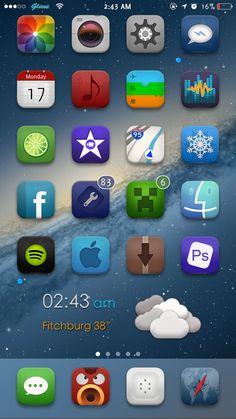 iOS 8 Cydia Winterboard Jailbreak Themes: Gliese 8 by Cjmann1ng