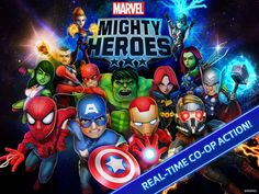 Marvel Mighty Heroes App by DeNA Corp. Comic Book Apps.