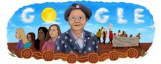 """Google Doodles - Pearl Gibbs """"Gambanyi's"""" 120th Birthday Day Of Mourning, Flannel Flower, Australian Politics, You Doodle, Social Injustice, Aboriginal People, Wine Cork Crafts, Google Doodles, South Seas"""