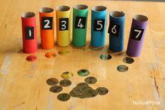 Rainbow themed math activities
