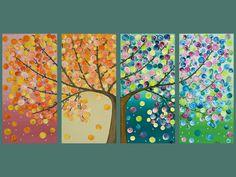tree painting: four seasons