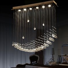 BYB® Modern Chandelier Rain Drop Lighting Crystal Ball Fixture Pendant Ceiling Lamp, Moon & Star, Free Shipping, X237