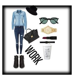 """""""Untitled #723"""" by giselaturca on Polyvore featuring Vero Moda, Miss Selfridge, N.Y.L.A., Lauren Ralph Lauren, Forever 21, Ray-Ban, Michael Kors, Smashbox, Maison Michel and women's clothing"""