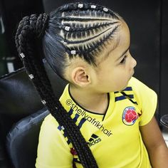 Lil Girl Hairstyles, Birthday Hairstyles, Natural Hairstyles For Kids, Kids Braided Hairstyles, Hair Ponytail Styles, Hair Up Styles, Natural Hair Styles, Baby Hair Cut Style, Braid Styles For Girls