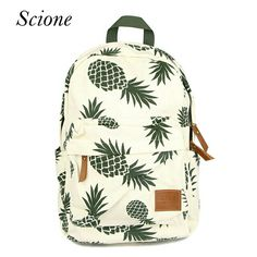 $15 New Designed Backpack Pineapple Printing School Bags For Teenager Girls Casual Bookbags Travel Bag Laptop Rucksack Mochila Li581