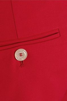 Gucci - Stretch Wool And Silk-blend Straight-leg Pants - Red - IT
