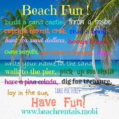 Which is your favorite way to play at the Beach? Contact us to book your great vacation rental now. http://beachrentals.mobi/ #vacationrentals #beachholiday #funinthesun  #Wanderlust