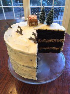 Dark cocoa winter cake