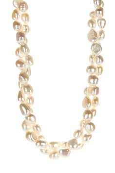 11-12mm White Freshwater Pearl Double Row Necklace on @HauteLook