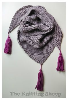 Triangle Tassel Scarf, Hand knitted shawl for woman, Knit lace wrap scarf, Soft wool shawl with tassels You are in the right place about Knitting. Knitting Blogs, Lace Knitting, Knitting Patterns, Knit Crochet, Knit Lace, Lace Wrap, Knit Wrap, Scarf Wrap, Lace Scarf