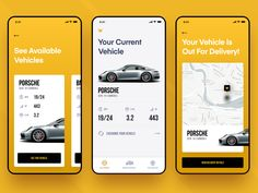 Eleanor iOS Car App by Eric Hoffman for Reform Collective on Dribbble Ui Design Mobile, App Ui Design, Interface Design, User Interface, Wireframe Design, Clean Web Design, Flat Design, Car App, Mobile Ui Patterns