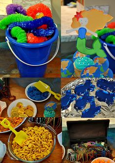 Under the sea food - serve it all in pails with shovels---Izzy.