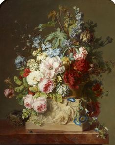 The Smell of Success: Gerard & Cornelis van Spaendonck, Painters of Flowers in Paris is at Het Noordbrabants Museum in 's-Hertogenbosch, the Netherlands from 26 April to 25 August It is accompanied by Paul Huys Janssen, De geur van succes. Dutch Artists, French Artists, Firmin Didot, Dutch Golden Age, Cabbage Roses, Large Painting, Rembrandt, Science And Nature, Rose Buds